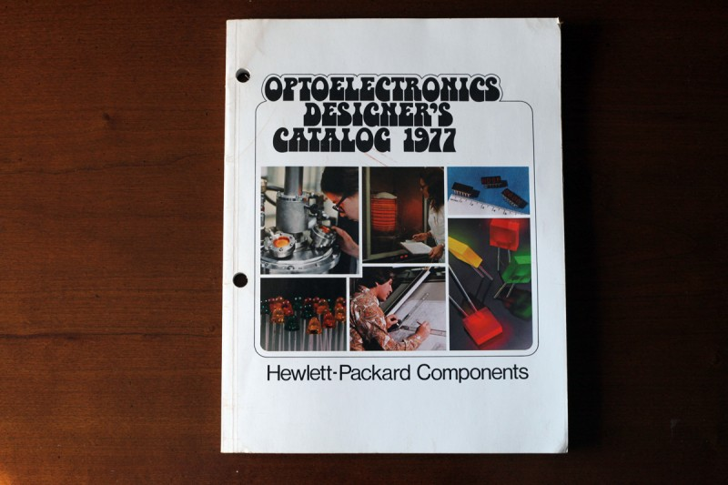 Woodward Vernacular Typography Optoelectronics Catalog 1977 Book Cover Bottleneck font