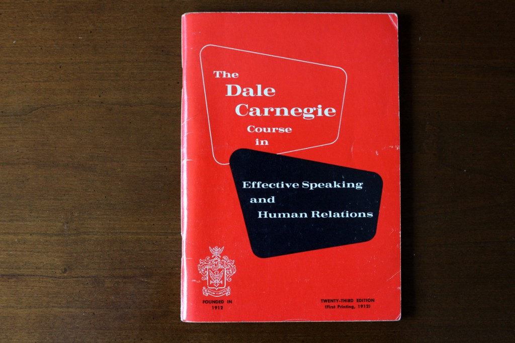 Woodward Vernacular Typography The Dale Carnegie Course in Effective Speaking Book Cover
