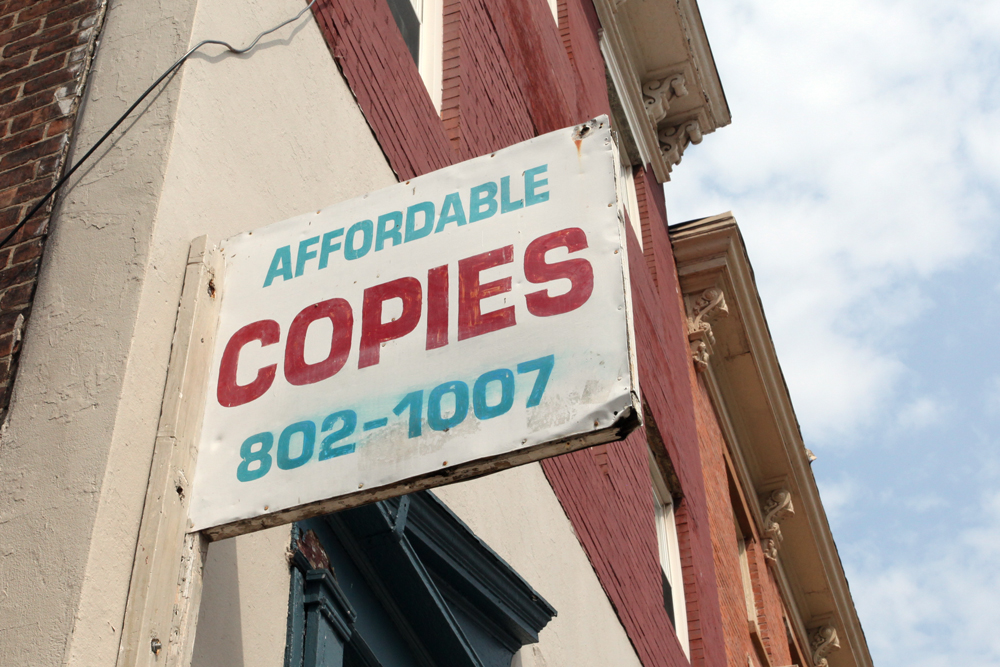 Molly Woodward Vernacular Typography Newark New Jersey Affordable Copies Signage