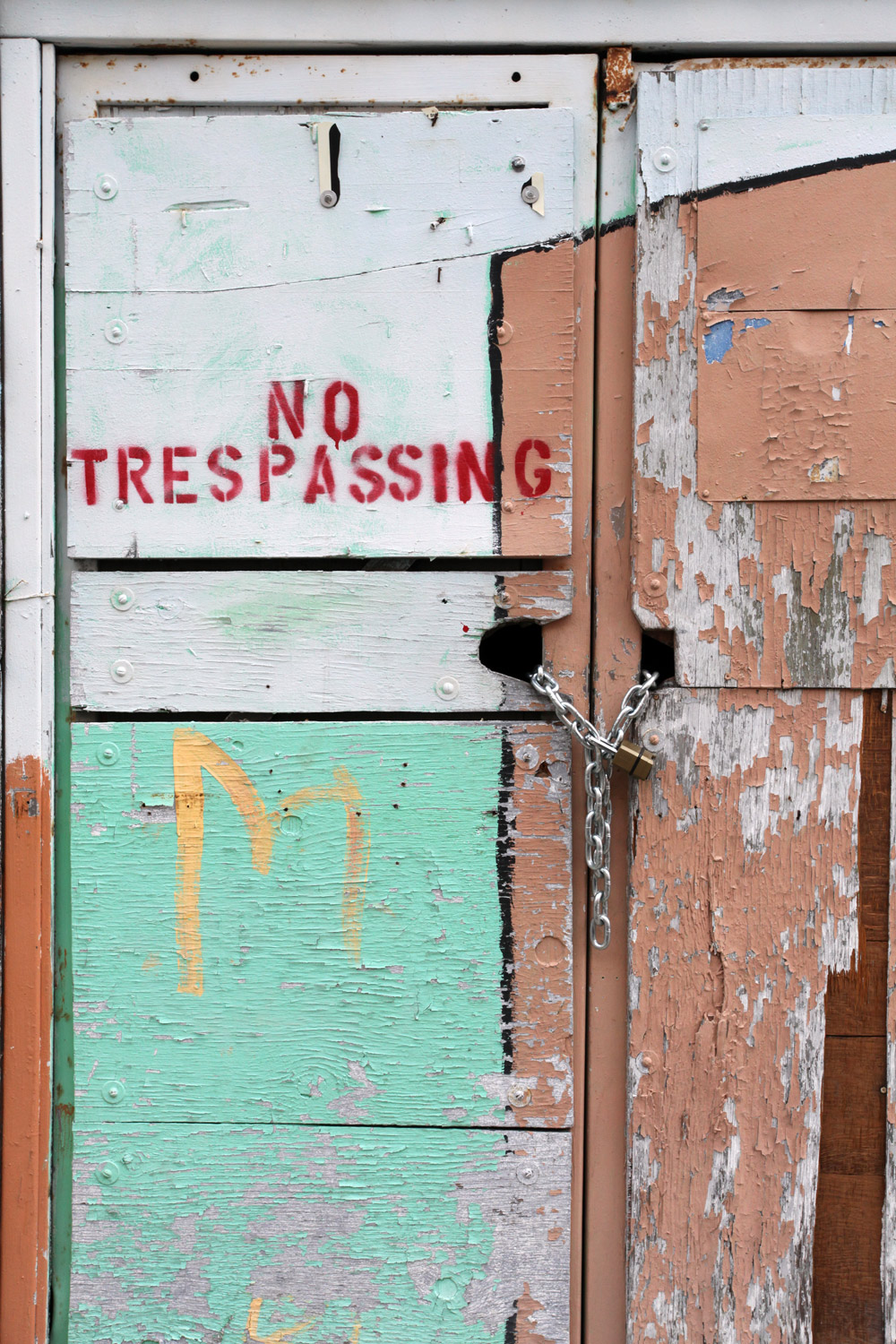 Molly Woodward Vernacular Typography Newark New Jersey No Trespassing Painted Mural