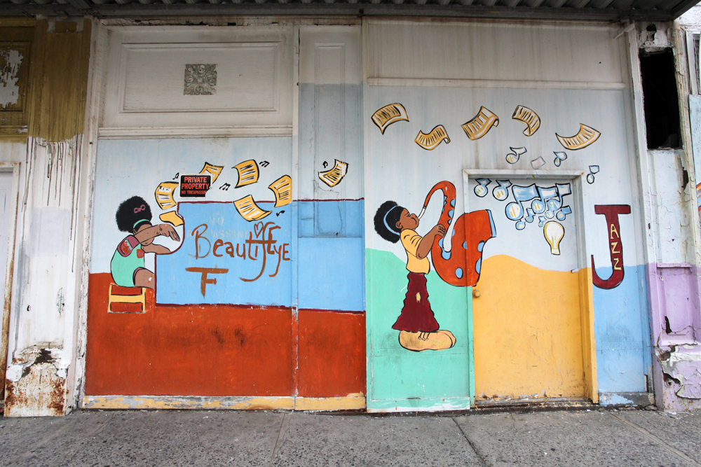Molly Woodward Vernacular Typography Newark New Jersey Beautify Hand Painted Mural