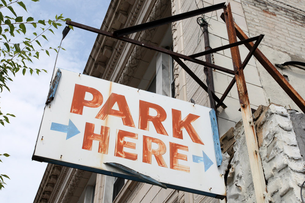 Molly Woodward Vernacular Typography Newark New Jersey Hand Painted Parking Lot Signage