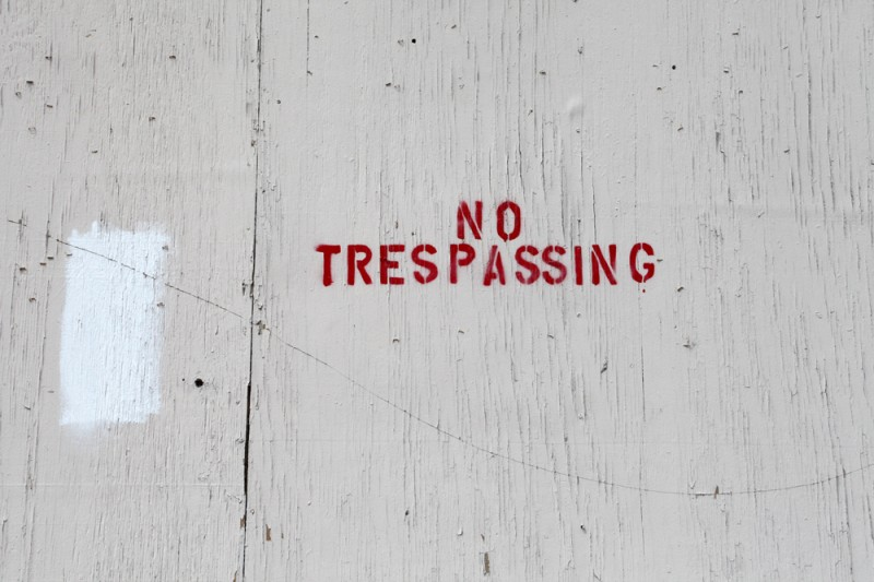Molly Woodward Vernacular Typography Newark New Jersey No Trespassing Stencil