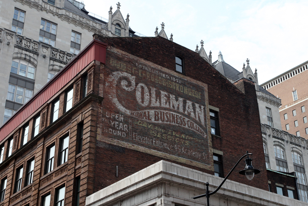 Molly Woodward Vernacular Typography Newark New Jersey Coleman Ghost Sign