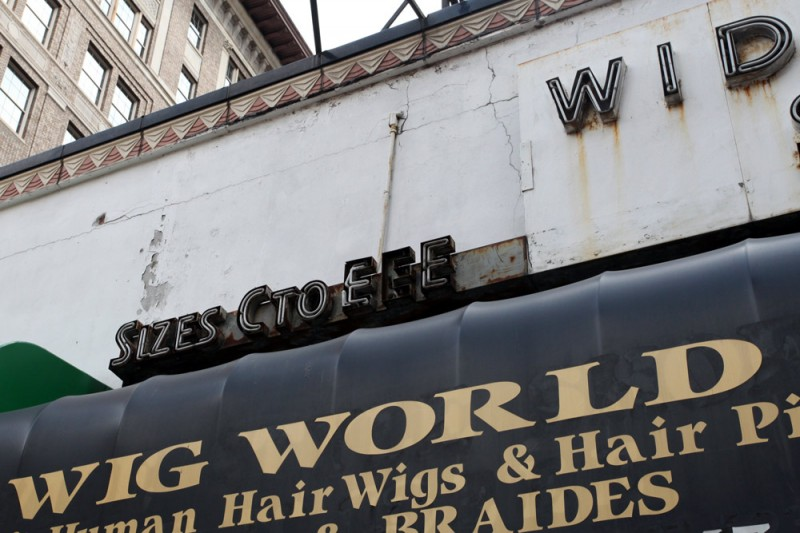 Molly Woodward Vernacular Typography Newark New Jersey Storefront Ghost Neon Sign