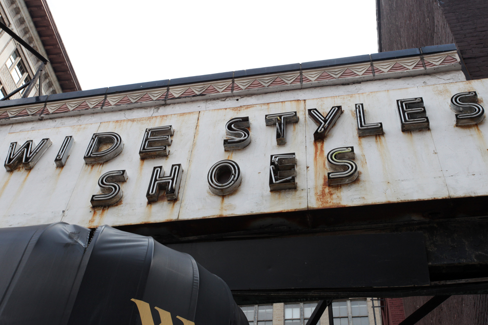 Molly Woodward Vernacular Typography Newark New Jersey Wide Styles Shoes Ghost Neon Sign