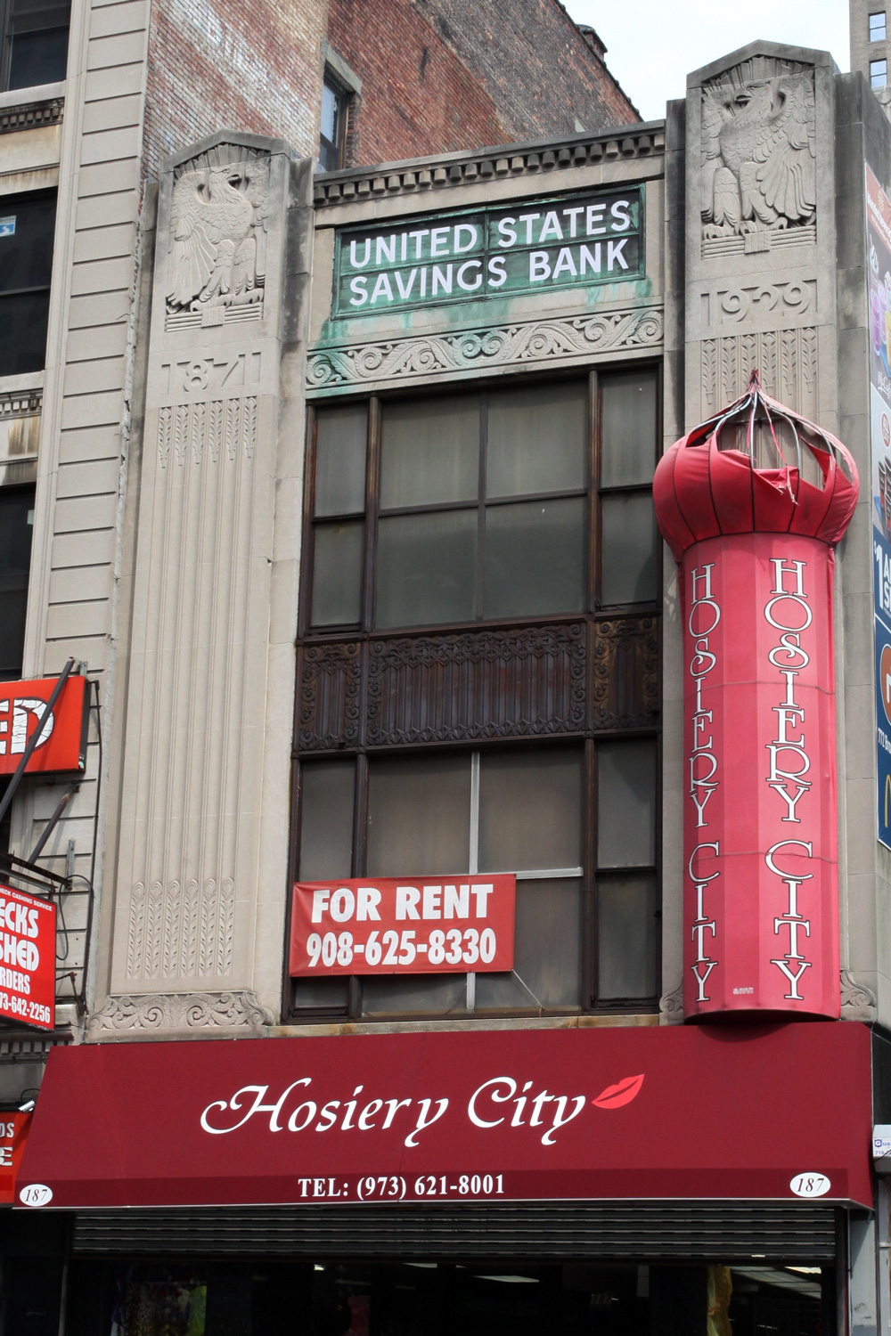 Molly Woodward Vernacular Typography Newark New Jersey United States Savings Bank Ghost Sign