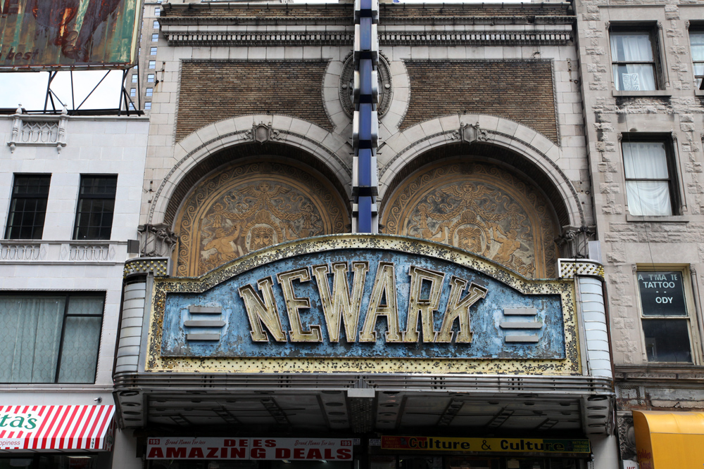 Molly Woodward Vernacular Typography Newark New Jersey Newark Theater Marquee