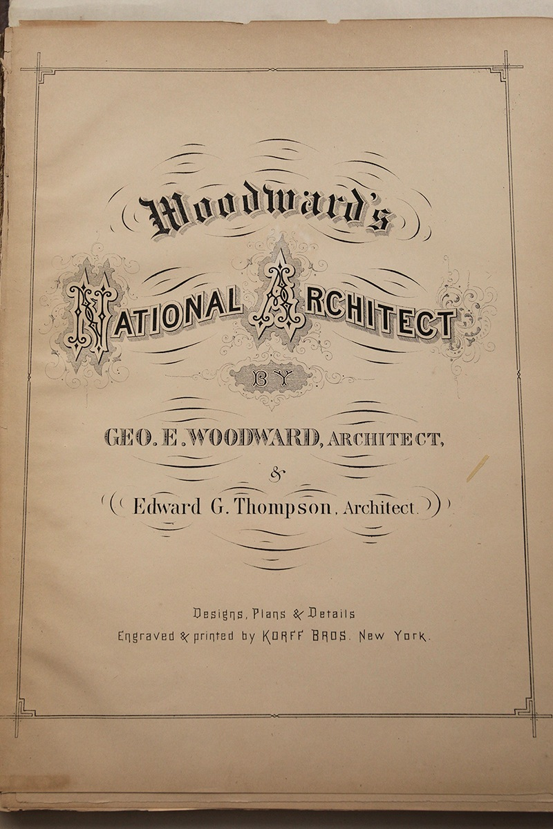 Woodward Vernacular Typography Brooklyn Historical Society Library National Architect Book