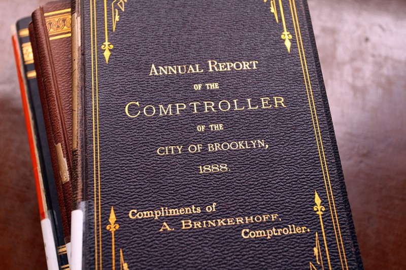 Woodward Vernacular Typography Brooklyn Historical Society Library Comptroller Annual Reports