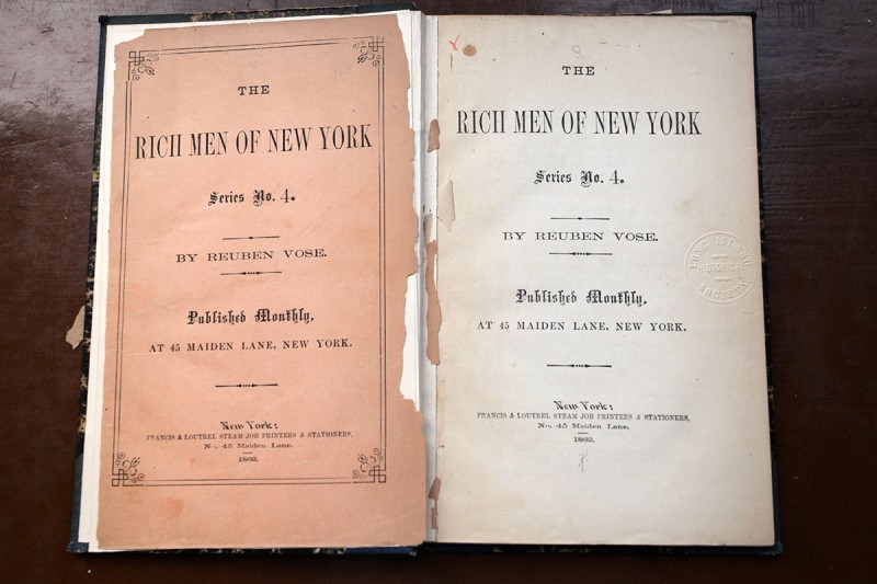 Woodward Vernacular Typography Brooklyn Historical Society Library Rich Men of New York Book