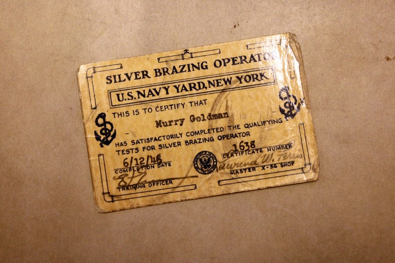 Woodward Vernacular Typography Brooklyn Historical Society Library US Navy Yard ID Card