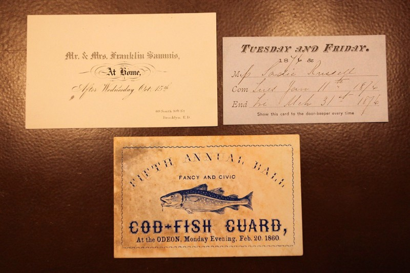 Woodward Vernacular Typography Brooklyn Historical Society Library Solicitation Cards