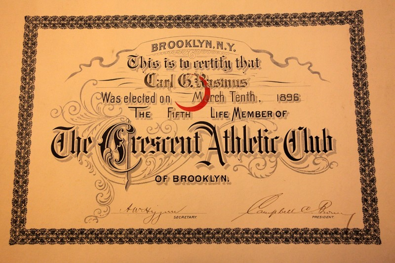 Woodward Vernacular Typography Brooklyn Historical Society Library Crescent Athletic Club