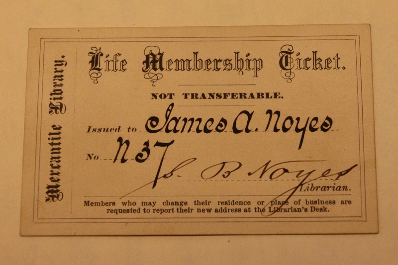 Woodward Vernacular Typography Brooklyn Historical Society Library Membership ticket