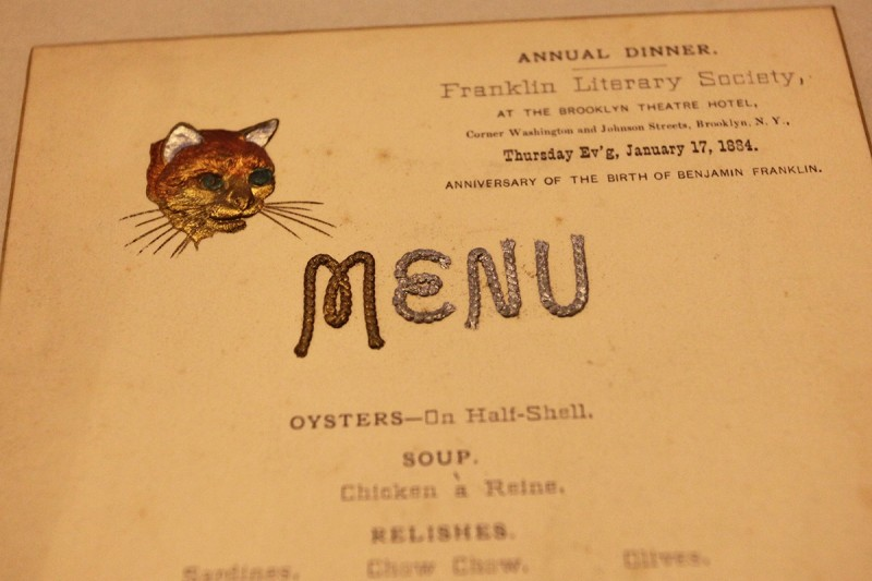 Woodward Vernacular Typography Brooklyn Historical Society Library Cat Rope lettering menu