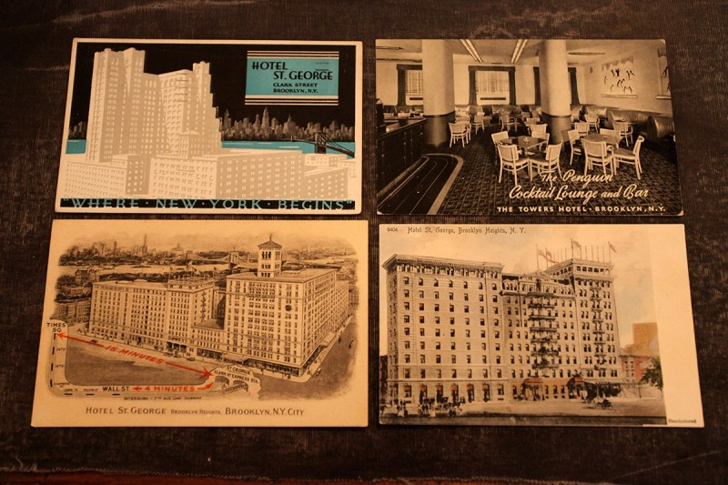 Woodward Vernacular Typography Brooklyn Historical Society Library St. George Hotel Postcards