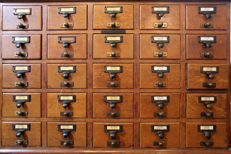 Woodward Vernacular Typography Brooklyn Historical Society Library Card Catalog