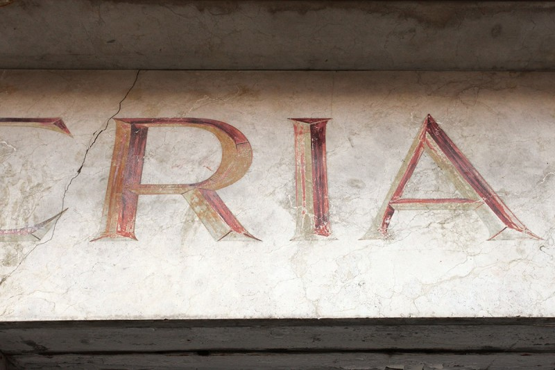 Vernacular Typography Venice Italy Salumeria Hand Painted 3D Lettering Storefront
