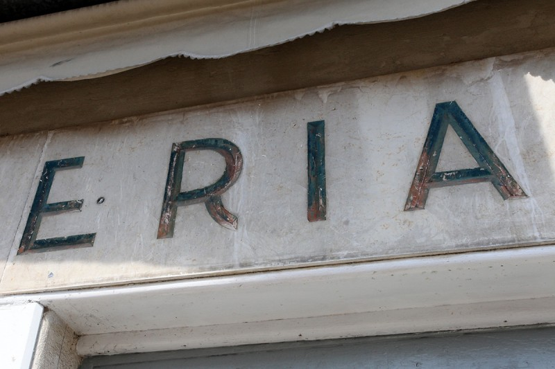 Vernacular Typography Venice Italy Latteria Storefront
