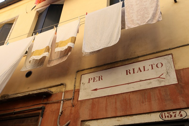 Vernacular Typography Venice Italy Stencil Lettering Wayfinding