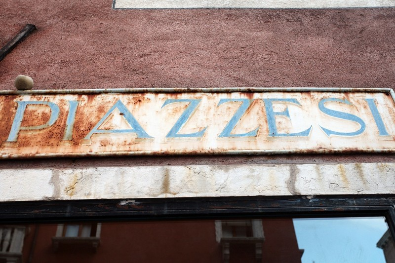 Vernacular Typography Venice Italy Hand Painted Storefront Sign Lettering