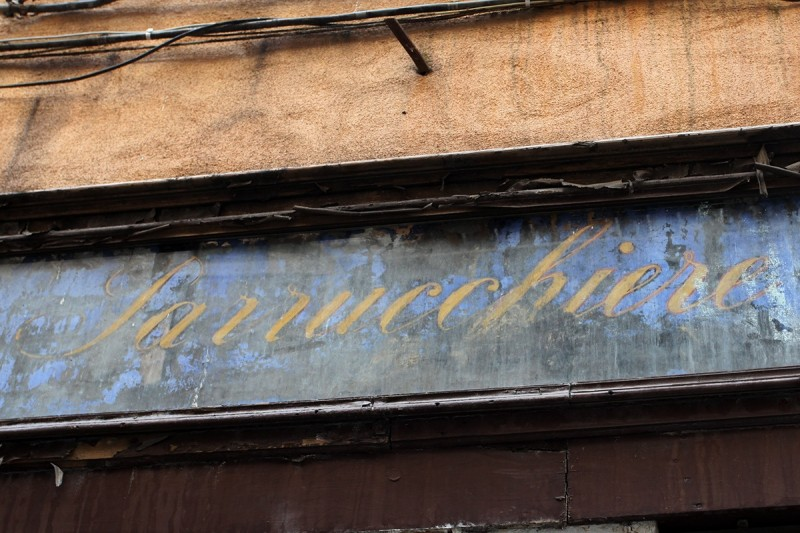 Vernacular Typography Venice Italy Parrucchiere Ghost Glass Sign