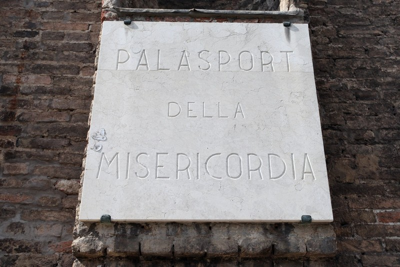 Vernacular Typography Venice Italy Palasport Plaque