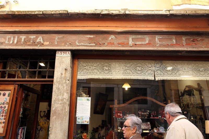 Vernacular Typography Venice Italy Ghost Sign Storefront