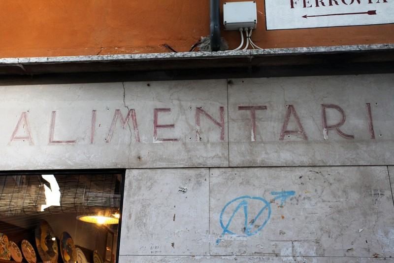 Vernacular Typography Venice Italy Storefront Lettering Alimentari