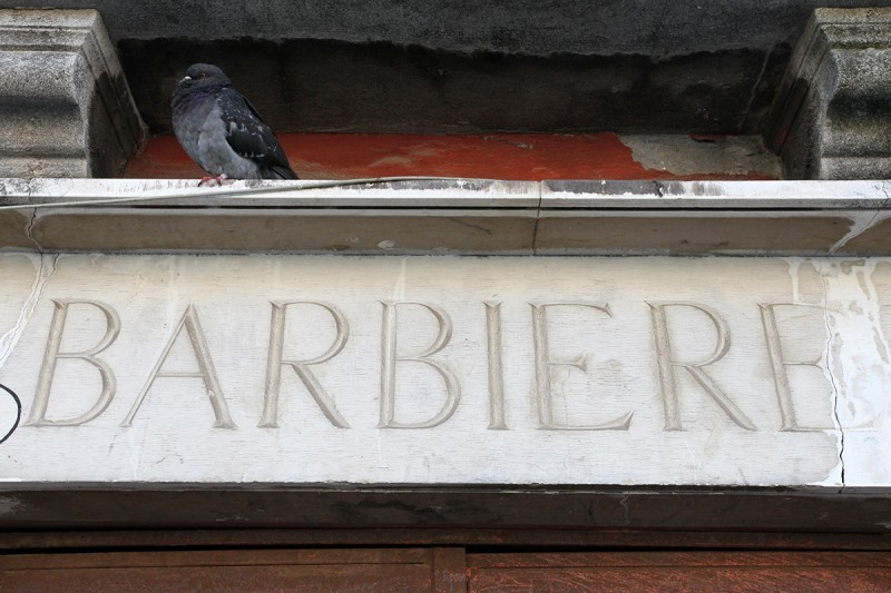 Vernacular Typography Venice Italy Barbiere Storefront Lettering