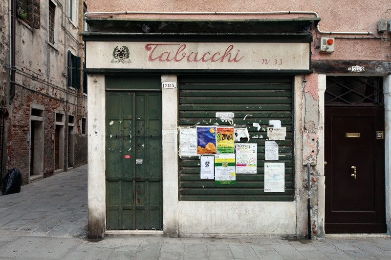 Vernacular Typography Venice Italy Tabacchi Storefront Lettering