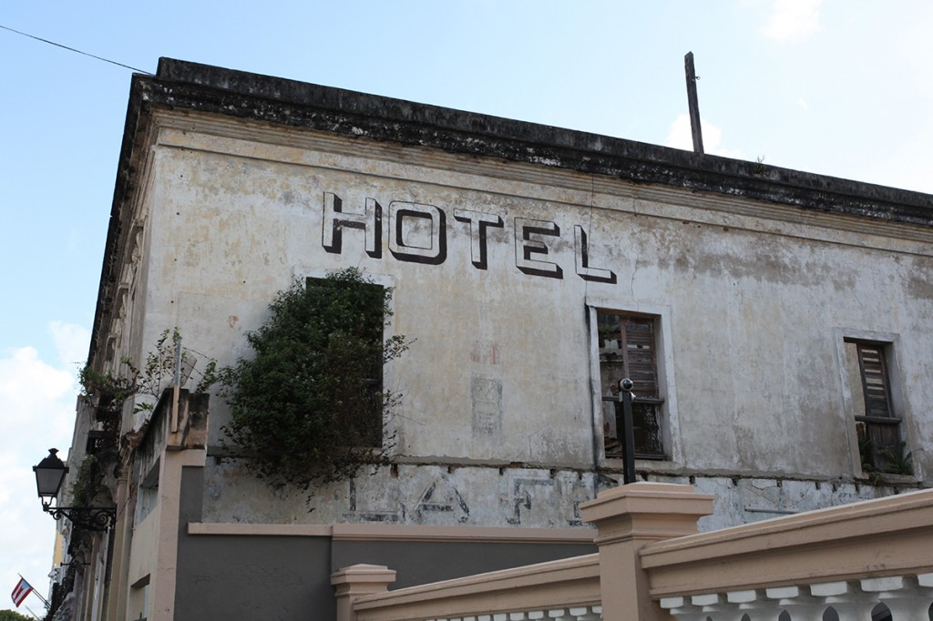 San Juan Puerto Rico Vernacular Typography Hotel Bottle Ghost Sign