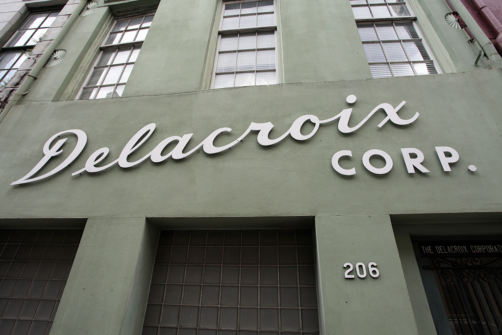 Molly Woodward Vernacular Typography New Orleans Delacroix Corp Sign