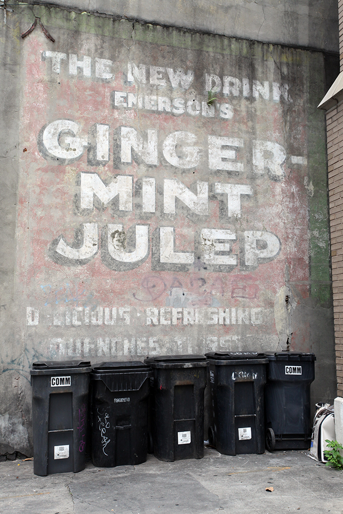 Molly Woodward Vernacular Typography New Orleans Ghost Sign Ginger Mint Julep