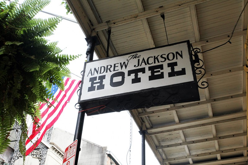 Molly Woodward Vernacular Typography New Orleans The Andrew Jackson Hotel Sign