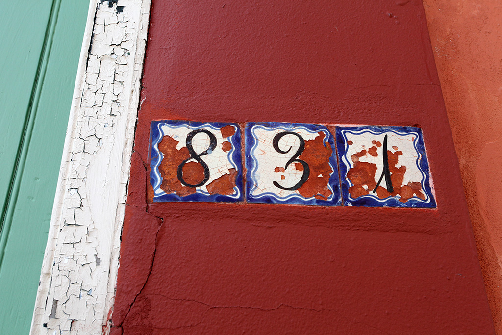 Molly Woodward Vernacular Typography New Orleans Number Tiles