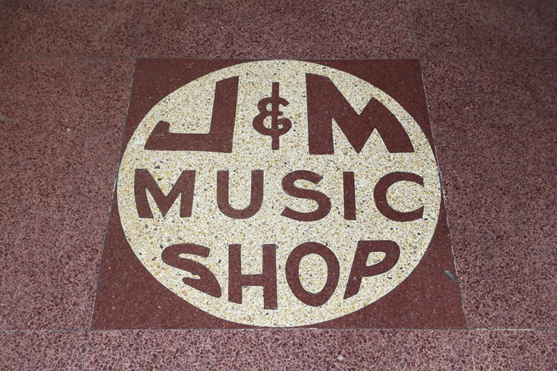 Molly Woodward Vernacular Typography New Orleans J&M Music Shop lettering
