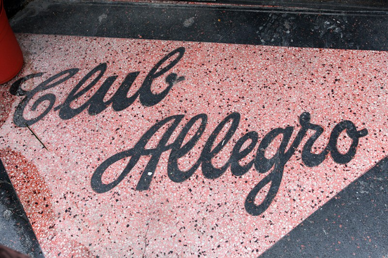 Molly Woodward Vernacular Typography New Orleans Club Allegro