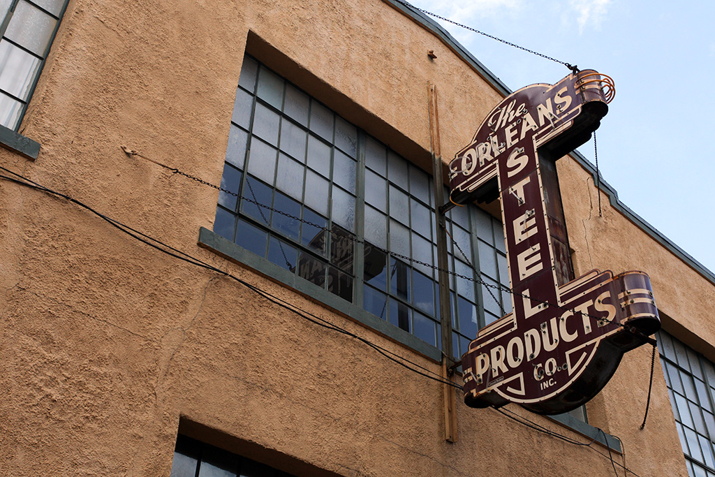 Molly Woodward Vernacular Typography New Orleans Steel Products Co Sign