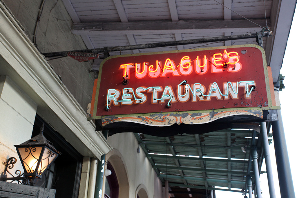 Molly Woodward Vernacular Typography New Orleans Tujague's Neon Sign