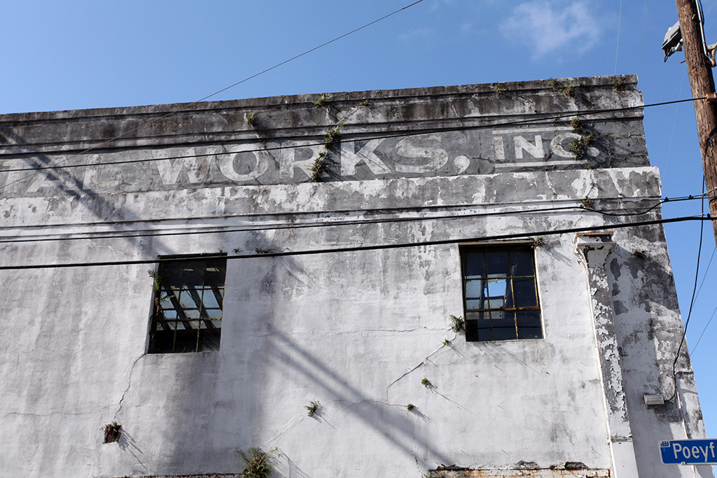 Molly Woodward Vernacular Typography New Orleans Iron Works Ghost Sign