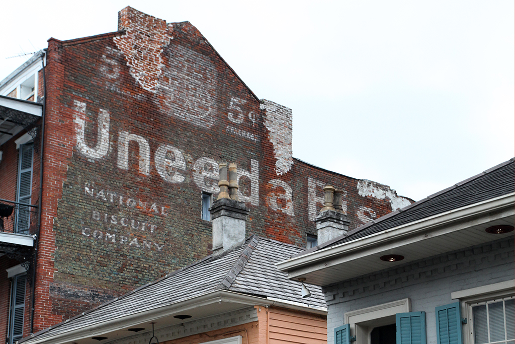 Molly Woodward Vernacular Typography New Orleans Bourbon Street Ghost Sign Uneeda Biscuit