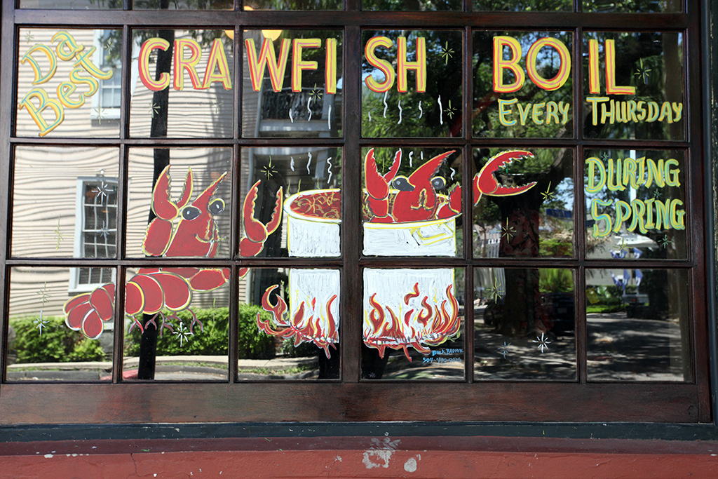 Molly Woodward Vernacular Typography New Orleans Crawfish Boil Hand Painted Sign