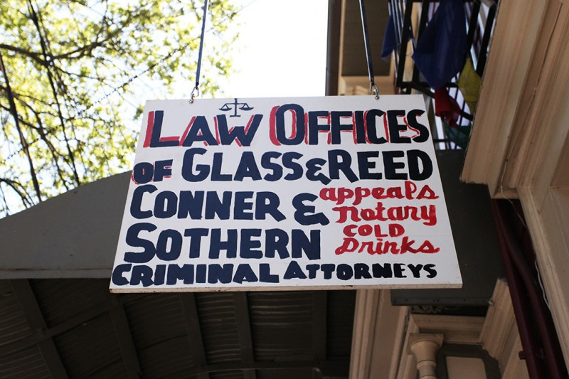 Molly Woodward Vernacular Typography New Orleans Law Office Hand Painted Sign