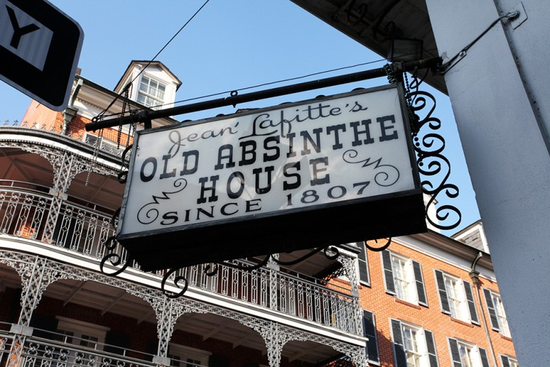 Molly Woodward Vernacular Typography New Orleans Jean Lafitte's Old Absinthe House Hanging Sign