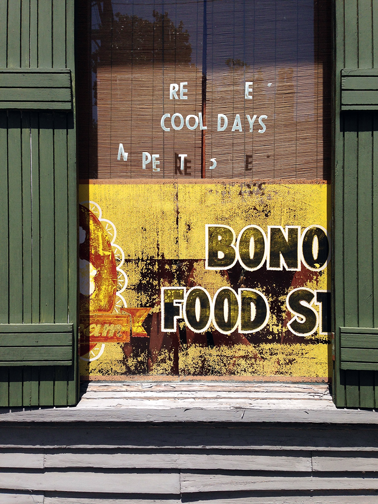 Molly Woodward Vernacular Typography New Orleans Bono's Food Store Hand Painted Sign