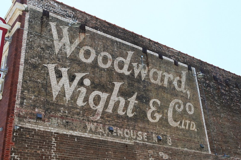 Molly Woodward Vernacular Typography New Orleans Ghost Sign Woodward Wight & Co