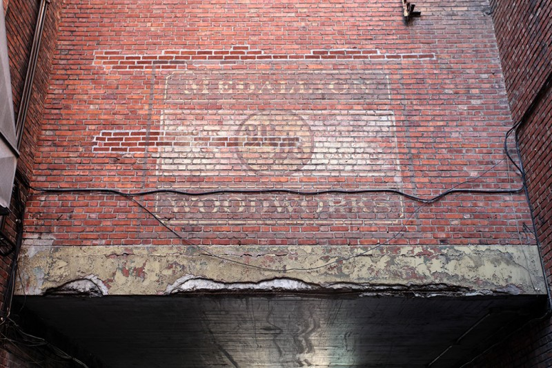 Vernacular Typography Montreal Ghost Sign Medallion Woodworks