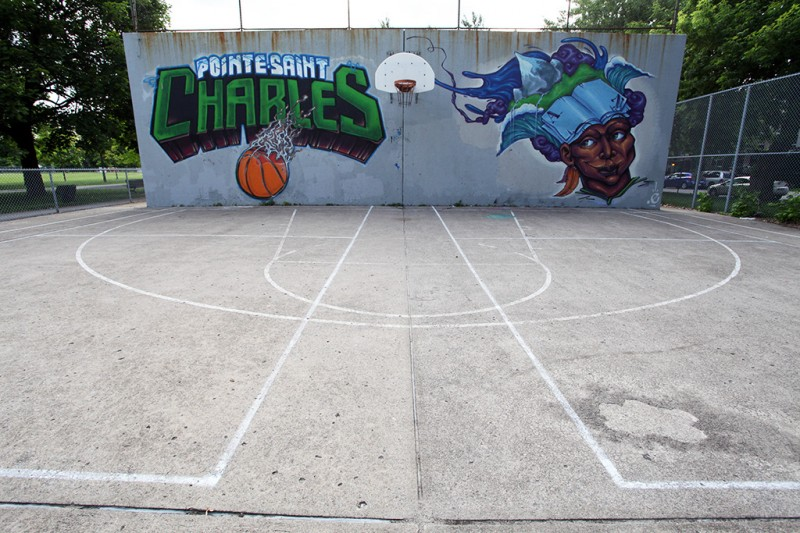 Vernacular Typography Montreal Point St. Charles Basketball Court